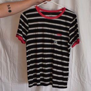 Vans black and white striped shirt